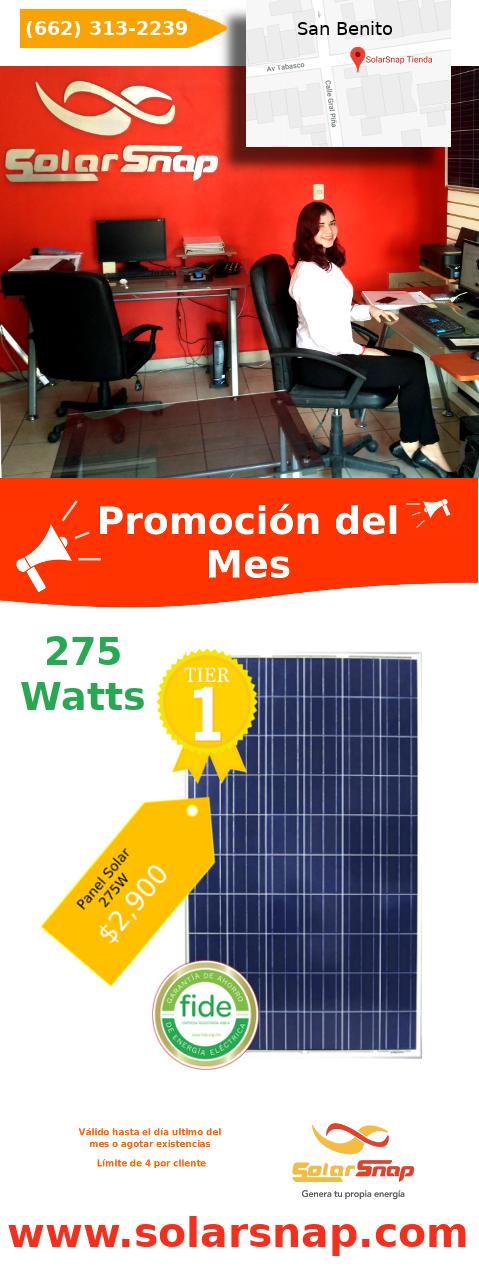 ¡Gran precio en panel solar de 275 vatios!
